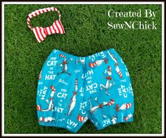 Boys Diaper Cover Shorts and Bowtie Set by SewNChick on Etsy