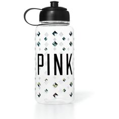 Victoria's Secret Water Bottle ($15) ❤ liked on Polyvore featuring accessories, food and drink, bottles, drinks and other