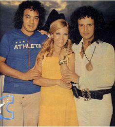 """Erasmo Carlos, Wanderlea y Roberto Carlos, integrantes del movimiento musical y generacional """"la Joven Guarda"""""""