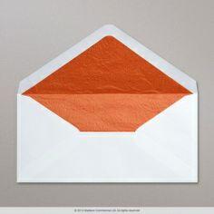 White Fancy Paper Lined Envelope