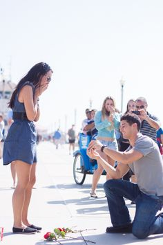 During their first ever conversation, he asked her how she wanted to be proposed to. A year later, it happened.