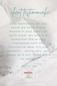What a wonderful recommendation, thank you Kelly for your kind words Make Your Bed, How To Make Bed, Single Size Bed, Teen Bedrooms, Simple Bed, Getting Out Of Bed, Quilt Cover Sets, Linen Bedding, Beautiful Homes