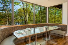 Marvin Integrity for a Rustic Dining Room with a Big Windows and Lake Arrowhead Residence Rda Winner 2014 by Integrity Windows and Doors