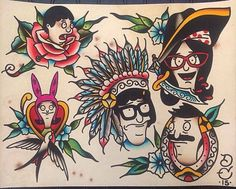 Bobs Burgers Flash Sheet by ZoeyCottomArt on Etsy
