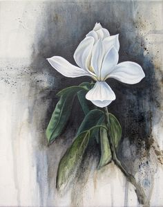 Magnolia 1. Acrylic and oil on canvas. Artist: jennymoedkorpela.com