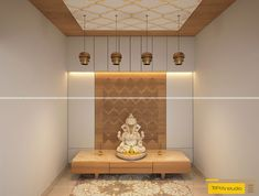House Ceiling Design, Ceiling Design Living Room, Home Stairs Design, Living Room Designs, Wardrobe Interior Design, Home Interior Design, Ganesh Pooja, Temple Design For Home, Pooja Mandir