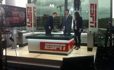 Television set design, TV set design, studio platform design, news set construction, ESPN - FA cup set 2012