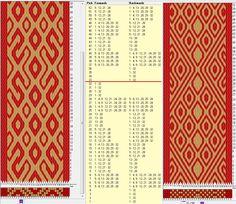 Two opposite threadings - same movements / 32 tarjetas, 2 colores, repite cada 32 movimientos // sed_509 & sed_509a diseñado en GTT༺❁