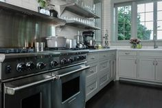 Kitchen ~ Cabinet Paint Color ~ Pavilion Gray by Farrow & Ball