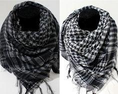 efd06e10 Women Men Fashion Arab Shemagh Keffiyeh Palestine Scarf Shawl Kafiya Wrap x  2