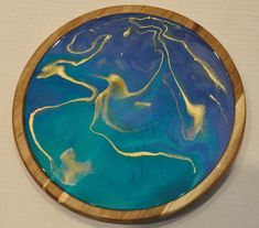 Glowing Waters - Resin Art Lazy Susan Glow Water, Lazy Susan, Acacia Wood, Resin Art, Art Pieces, Finding Yourself, Etsy Seller, Epoxy, Conversation