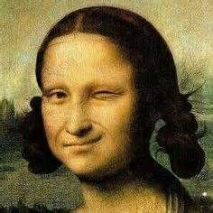 Mona Lisa winking with her new do