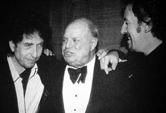 Bob Dylan and Bruce Springsteen talking with....Don Rickles? [575x393] - Imgur