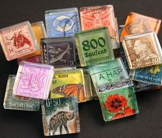 way to use old postage stamps