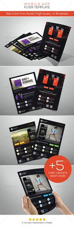 #Mobile #App Promotion #Flyers - Commerce Flyers Download here: https://graphicriver.net/item/mobile-app-promotion-flyers/4547515?ref=alena994