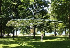silver lining installation. 100 in 1 day vancouver #inflatable #architecture