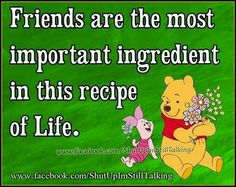 Hmmm.... I agree with the significance of friends in my life.....  just can't correlate it with a recipe....    ;)