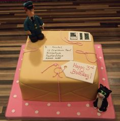 Wondering how viable it would be to have a postman pat cake in our monthly surprise gift package. Harry Birthday, 6th Birthday Parties, Man Birthday, Birthday Cakes, Birthday Ideas, Postman Pat Cake, Cake Pops, Big Cakes, Novelty Cakes