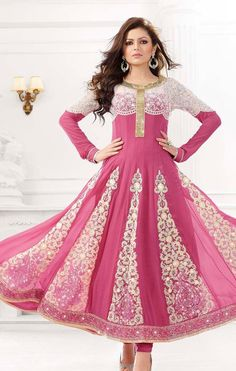 #Shop the #latest and #exclusive #madhubala #embroidered #anarkali #suit from nallucollection.com and flaunt your #appealing #appearance.