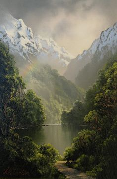 Tim Wilson - incredible painter from Queenstown, New Zealand. His paintings are so much more magical when you see them in real life!