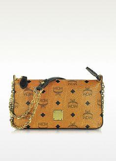 b50d5122a6a9d MCM Vintage Visetos Mini Zip Shoulder Bag