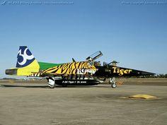 Brazilian Air Force (FAB) Northrop F-5E/F Tiger II, in NATO Tiger Meet/anniversary scheme.