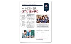 High School Flyer Template Design by StockLayouts