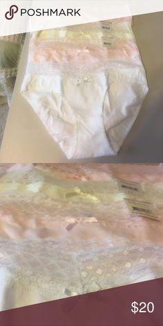 Lacy pantie Brand new 4 sexy lacy hipster panty. So nice cotton /spandex beautiful pastel colors ! Relativity Intimates & Sleepwear Panties