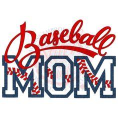 Baseball (119) Baseball MOM Applique 5x7