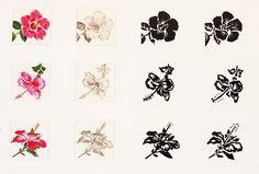 #DessinAnalytique - #Infographie - #Peinture Gouache - #Stylisation d'une fleur - #Fleurexotique - #Étudedeforme - #Penninghen - Audrey DEBARGUE https://fr.pinterest.com/audreydebargue/