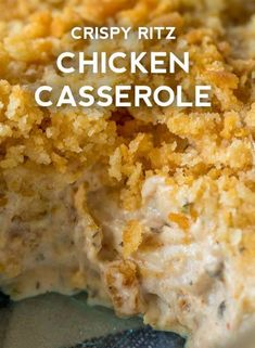 Ritz Crackers, Ritz Cracker Chicken Casserole, Creamy Chicken Casserole, Ground Chicken Casserole, Snacks Sains, Best Chicken Recipes, Shrimp Recipes, Salmon Recipes, Eating Clean