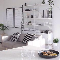 Home goal as via @thedesignchaser   #interior #interiorinspiration #interiorinspo #homedecor #homeinspo #stringshelf #scandi #scandihome #scandinavian #newzealand #studioesinam #propertystyling #design #designer