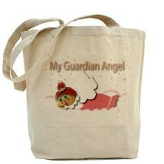 Raggedy Isabella Guardian Angel Tote Bag> Raggedy Isabella> Angelic Inspirations  J.L. Designs