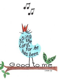Scripture Art: Wise owl, Singing bird and The Vine