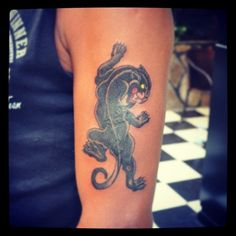 Panther tattoo (cover up)