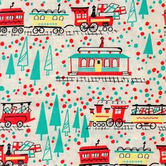 Vintage train wrapping paper