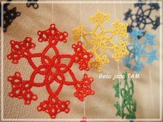 Tatting - snowflakes