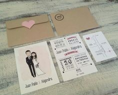 Vintage Invitations, Cover, Wedding