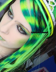 Neon Yellow and Green Hair by CandyAcidHair on deviantART