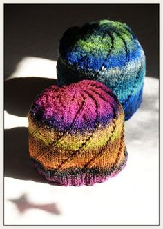 Free Knitting Pattern - Hats: Noro spiral one-skein hat I LOVE the colors and simplicity of this hat. The pattern is also a fun read. Love working with Noro yarn! Loom Knitting, Knitting Patterns Free, Free Knitting, Baby Knitting, Crochet Patterns, Free Pattern, Hat Patterns, Bonnet Crochet, Knit Or Crochet