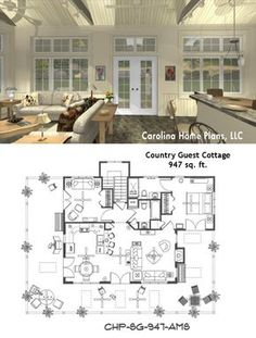 Complete House Plans---648 s/f Mother-in-law cottage | Home - Inside ...
