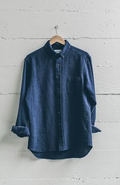 2017 - The Indigo Selvage Series Denim Button Up, Button Up Shirts, Taylor Stitch, Indigo Colour, Waffles, Collars, Oxford, Fitness, Casual