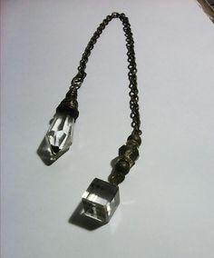 Transparent glass pendulum Dog Tags, Dog Tag Necklace, Glass, Jewelry, Jewlery, Drinkware, Jewerly, Corning Glass, Schmuck
