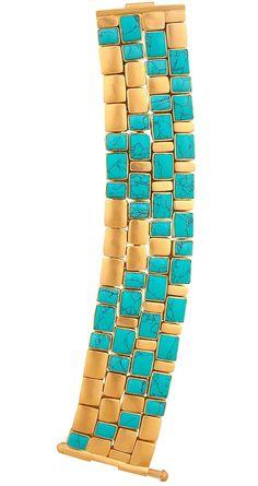 Amrapali, turquoise and gold bracelet