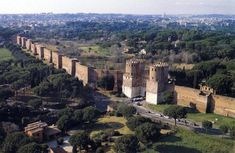 Honorius raised the walls to 11 m. and built a square bastion around the two round towers.