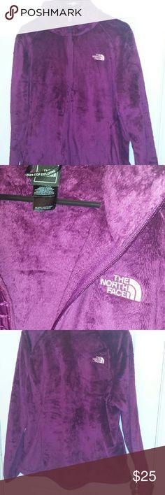Fuzzy North Face zip up jacket Fuzzy, new, deep purple, warm zip up jacket North Face Jackets & Coats