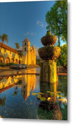 """The Santa Barbara Mission is undeniably one of the most impressive missions in California. Many events and services are held here every year from weddings to festivals, including the annual """"i madonnari"""", Italian street painting festival. California Missions, California Dreamin', Northern California, Santa Barbara California, Santa Barbara County, Pacific Coast Highway, Santa Monica, Big Sur, Newport Beach"""
