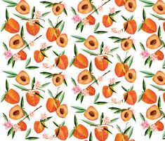 Simply peachy fabric by mulberry_tree on Spoonflower - custom fabric