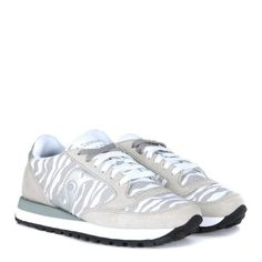 Laterale Sneaker Saucony Jazz Limited Edition suede grigio e tessuto  zebrato Jeffrey Campbell f64ef81a11b