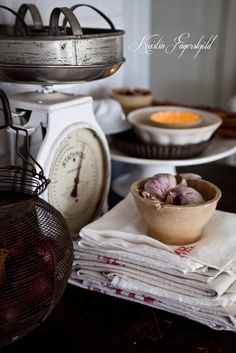 I mitt paradis: rustic feeling with vintage kitchenware